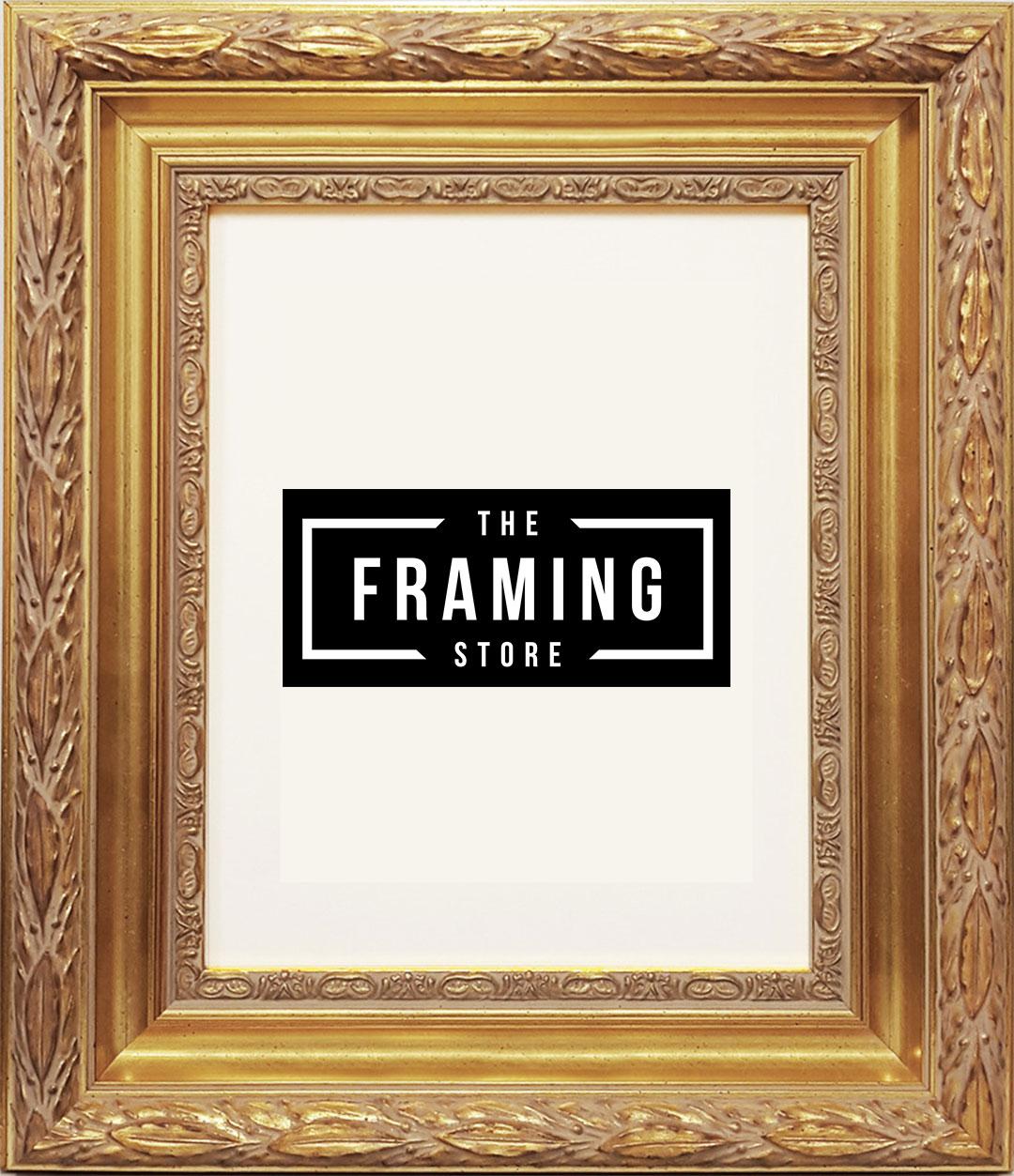 Australian made 8x10 Gold fancy frame (203mm x 254mm)