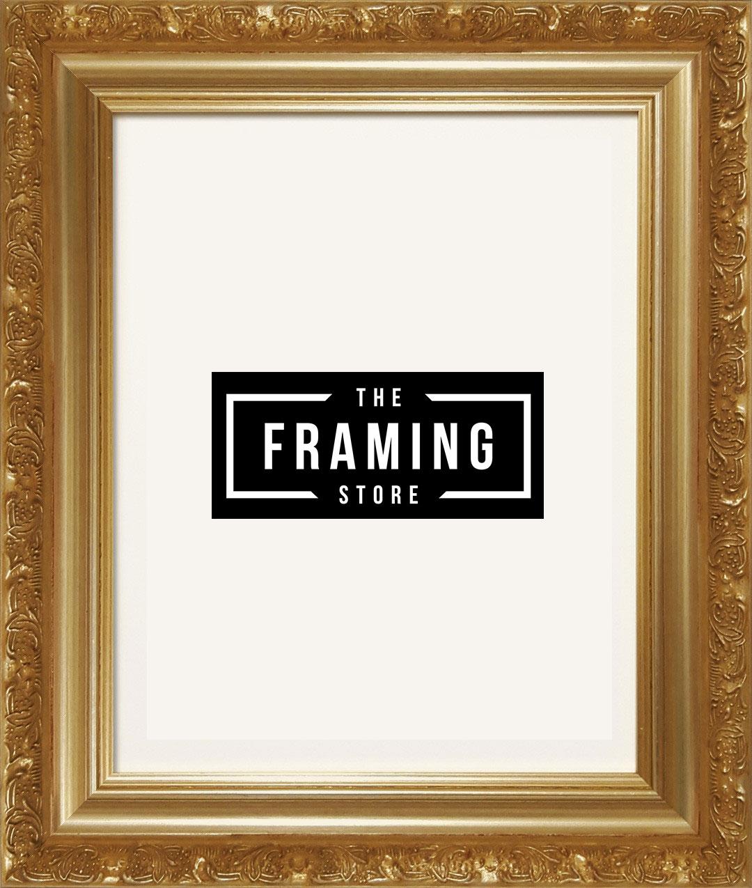 Australian made 8x10 Gold coloured fancy frame (203mm x 254mm)